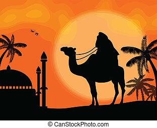 Bedouin travel background