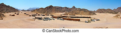 Bedouin village in the sandy desert