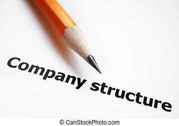 bedrijf, structuur