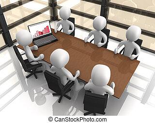 bedrijf, vergadering
