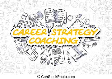 bedrijfscarrière, concept., -, strategie, coachend