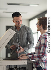 bedrijfspaar, kopie, documenten