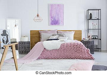 Bedroom designed for model