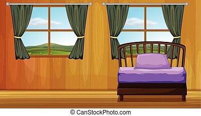 Bedroom - Illustration of a bedroom