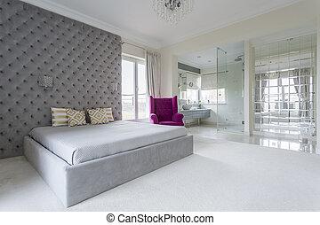 Bedroom full of space - Luxurious bedroom interior full of...