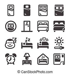 bedroom icon set