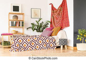 Bedroom in oriental style