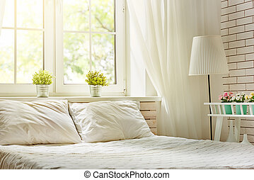 Bedroom in soft light colors