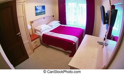 Bedroom in the hotel - Large bedroom with double bed, TV,...