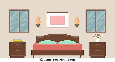 bedroom., intérieur