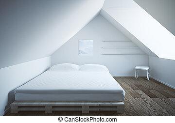 Bedroom interior dark