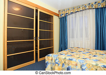 Bedroom interior in hotel