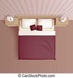 Bedroom Interior Top View Realistic Image