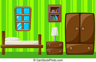 Bedroom. Interior. Vector illustration
