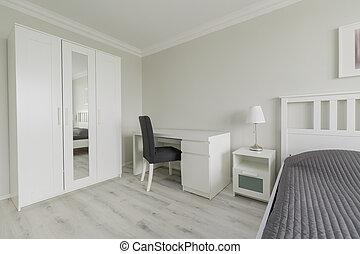 Bedroom interior with closet