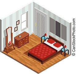 Bedroom Isometric Design