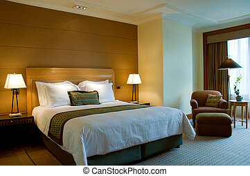 Bedroom of a elegant 5 star hotel - Bedroom of a elegant 5...