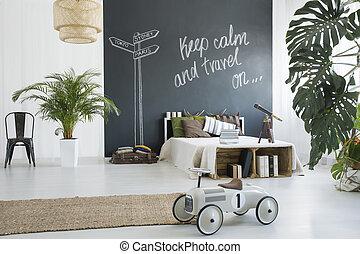 Bedroom of a traveler