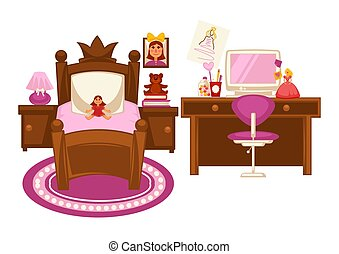 Bedroom of little girl