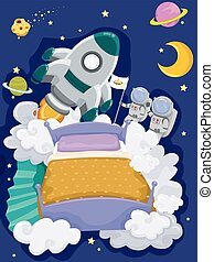 Bedroom Outer Space Bed Dream