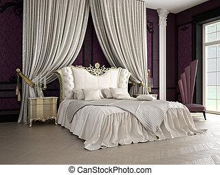 bedroom - classic bedroom, 3D RENDERING