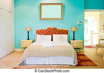 bedroom - a modern colorful bedroom