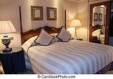 Bedroom - plush modern bedroom