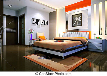 bedroom - Custom bedroom, sofa bed, short cabinet