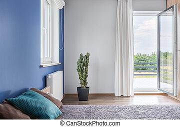 Bedroom with balcony idea