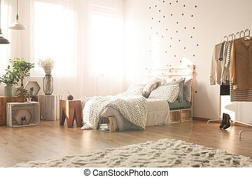 Bedroom with dots