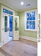 bedroom with double doors