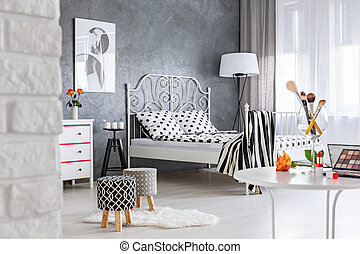 Bedroom with dressing table