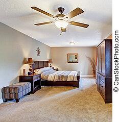 Bedroom with elegant furniture