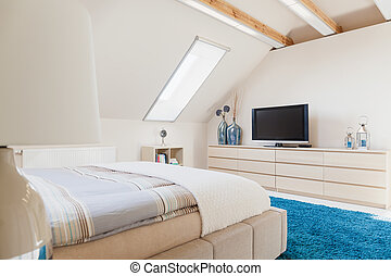 Bedroom with television