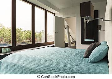 Bedroom with view of garden
