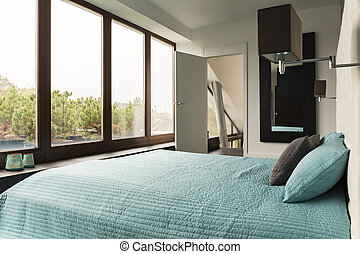 Bedroom with view of garden