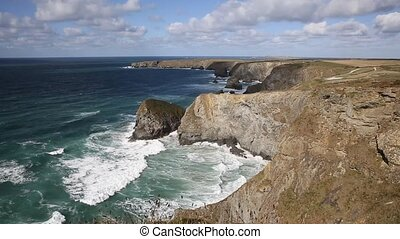 Bedruthan Steps North Cornwall - Bedruthan Steps Cornwall...