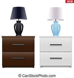 Bedside nightstand with night light