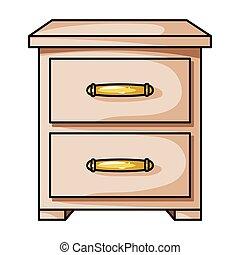 Bedside table clipart  Vector Clipart of cartoon bedside table csp14813006 - Search ...