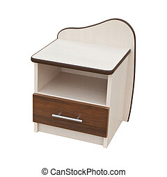Small bedside table isolated on a white background with clipping path