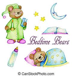 Bedtime Bears - A collection of cute teddy bear...