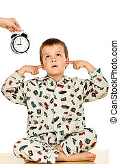 Bedtime for a disobedient kid - Disobedient kid at bedtime -...