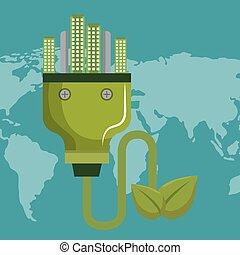 bedugaszol, város, energia, zöld