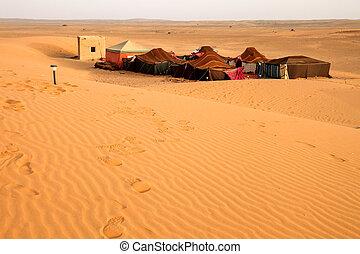 beduine, wüste, lager