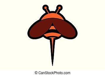 bee abstract logo icon vector