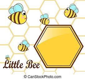 bee and honey