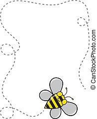 Bee Border - A cute cartoon bee flying around to create a...