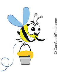 Bee, cartoon.