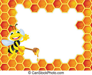 Bee cartoon - Vector illustration of bee cartoon