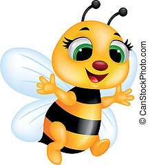 Vector illustration of bee cartoon